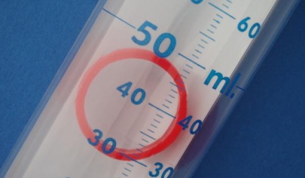 Red indicator ring closeup